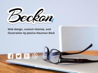 Beckon portfolio wordpress one page