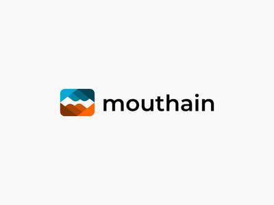 mouthain logo abstractlogo minimalist logodesigner logo simple