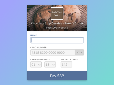 #002 Credit Card Checkout daily ui checkout ui day 2 day2 dailyui