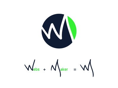 Logo design concept for a web development company