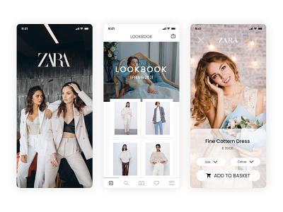 Zara App UI Kit redesign gallery lookbook zara shopping app ios app design branding design fashion app shopping app shopping ui kit app zara