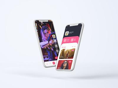 Video Streaming Screen branding design app ui user interface mx takatak app mx takatak app redesign concept redesign instagram live video