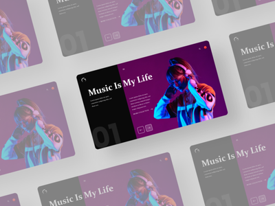 Music Banner Landing Page ui chat app week of the year challange app redesign web template web player hottest play music ios os mac spotify branding ux