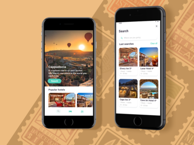 Travel Mobile App hotel app hotel booking mobile app design ux ui app design mobile ui travel design