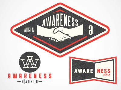 Adrenaline Awareness lacrosse charity adrenaline vintage logo monogram shaking hands