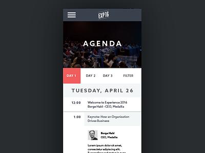 Experience 2016 Mobile Agenda b2b speakers mobile agenda conference