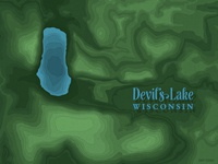 Devil's Lake - Topography Map