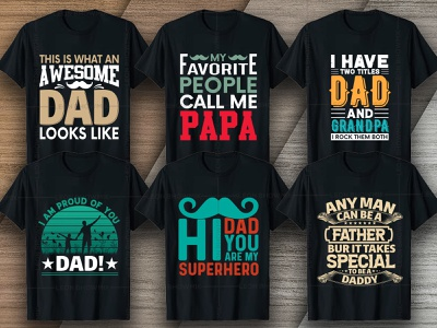 Father's Day T-shirt Design Bundle V2 girl dad t-shirt t-shirt design maker custom t-shirt fatherday fathersday family dad and son daddy papa day dad day fathers day tshirt design fathers day shirts near me vector graphic tshirt design illustration shirt design vector typography tees tshirt art merch by amazon shirts