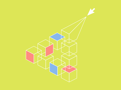 Building Design Community conceptual illustration palette chartreuse diagram illustration cursor blog post community building blocks