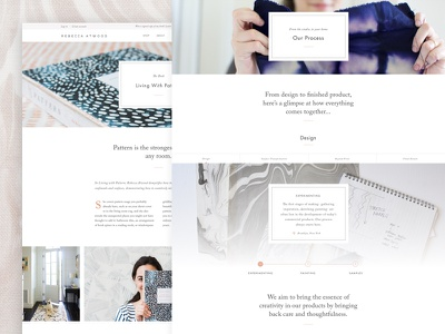 Documenting Process homewares home goods home furnishing textile designer textiles online store product zoom product detail shopify e-commerce design process process