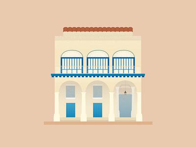 Casas Particulares curb appeal digital illustration illustration vacation travel casa havana cuba house