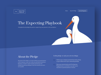 The Expecting Playbook parental policy tech diversity resource download digital illustration illustration web design download resource playbook