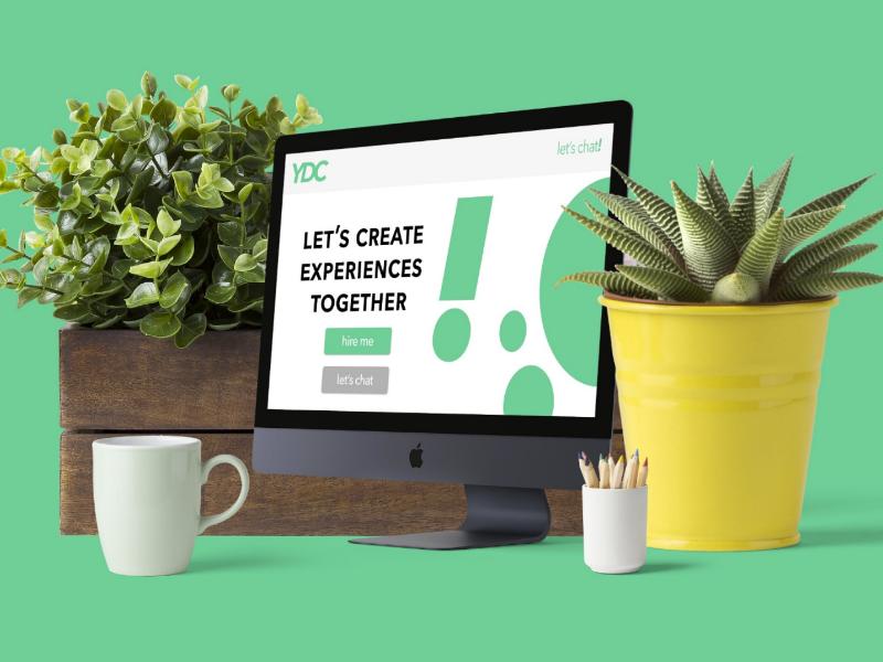 Freelance Web Design Mockup landing page freelance design ui design sketch figma mockup design web design branding