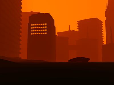 Blade Runner Visual city lamborgini octane cinema4d bladerunner