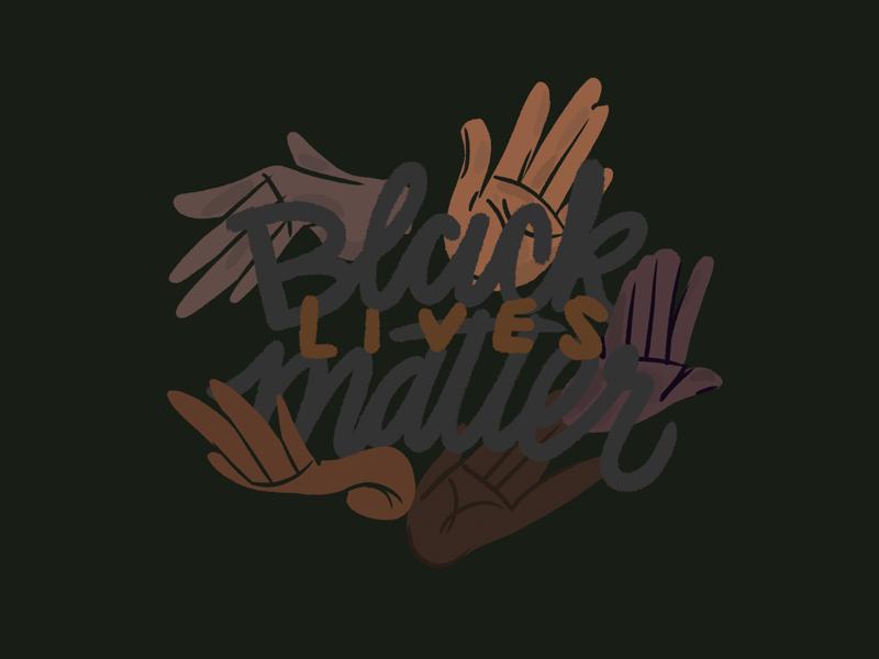 Black lives matter collaboration lettering live hands procreate 2020 blacklivesmatter black digital illustration