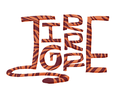 Tigre lines print animal orange tigre lettering