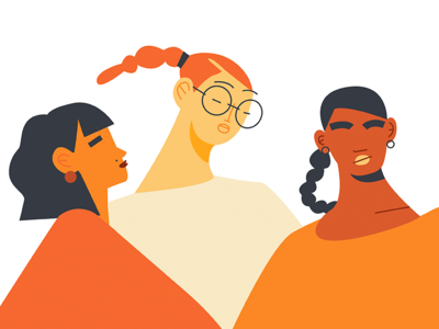 International Woman's Day 2018 at Eventbrite faces character body orange day woman international illustration