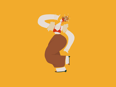 Carmen Miranda singer dancer curves colors latin yellow mambo salsa miranda carmen woman illustration