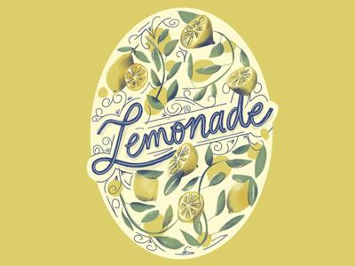 Limonada colors lemons texture pattern procreate drawing lettering lemon vintage label packaging 100day 100dayproject label lemonade illustration