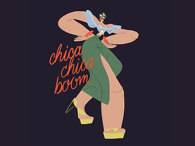 Carmen Miranda ❤ fashion vintage music art music movies salsa boom lettering dancer girl procreate characterdesign singer miranda carmen digital character woman illustration