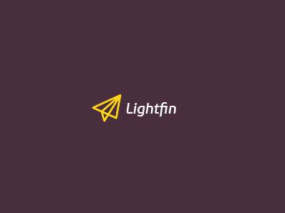 Lightfin microfinance logo light finance money plane artvento paper