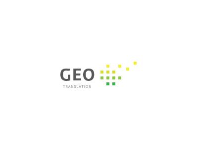 GEO ecology language transtation translate dots green yellow lime minimal artvento logo geo