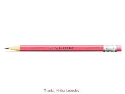 Pencil pencil thanks dribbble artvento debut