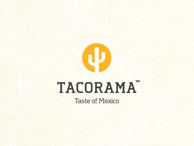 Tacorama sun cactus minimalistic minimal artvento logo tacorama maxican taco mexico food