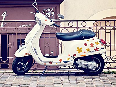 """""""alfika"""" scooter alfika scooter flowers artvento"""