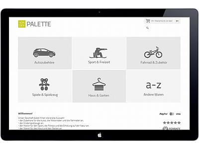von der PALETTE online shop ecommerce minimalistic artvento
