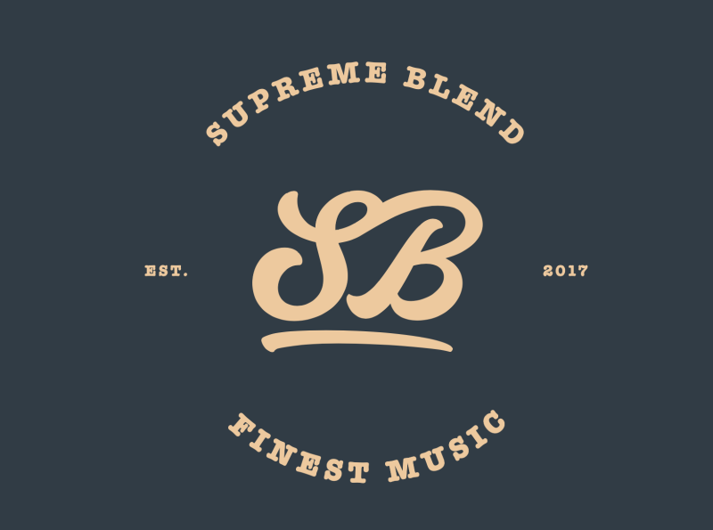 Supreme Blend music player banddesign musician band music website typography logo design web branding