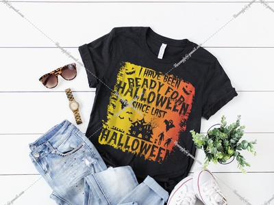 I Have Been Ready For Halloween halloween designs bundle illustration vector motion graphics design graphic design branding black t-shirt design for girls t-shirt design website logo