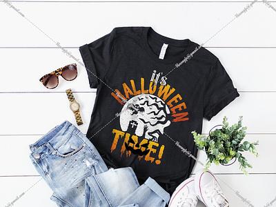 It's Halloween Time halloween designs bundle vector illustration motion graphics design graphic design branding black t-shirt design for girls t-shirt design website logo
