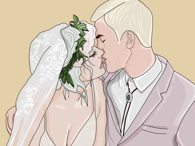 Yasmin & Connor design illustration