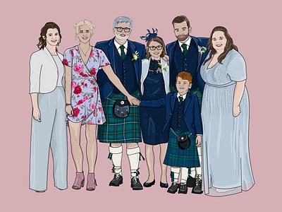 The Hendersons design illustration