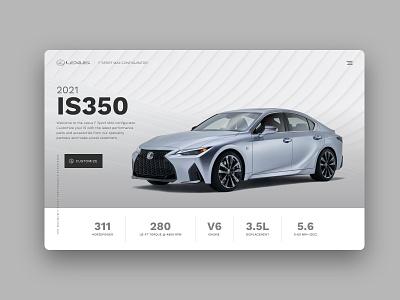 2021 Lexus IS Configurator Concept minimal animation website web ux ui design