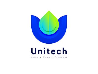 Tech logo | U letter logo environment nature mobile letter logo modern tech logo u logo u letter logo unitech logo technology logo tech logo tech icon illustration abstract simple gradient startup brand identity branding graphic design