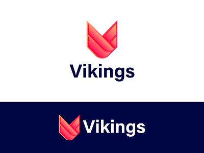V letter logo business logo modern logo app icon print illustration graphic design logo branding startup gradient abstract simple vikings logo v letter logo v logo lettermark letter logo mobile