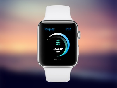 Surf Report App Concept watch ux ui