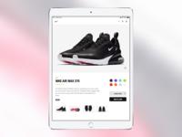 Nike Product Page - iPad