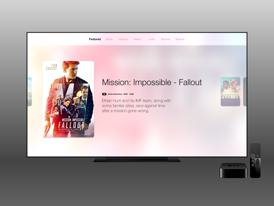 Movies Concept - Light Theme movies tv appletv app ux ui