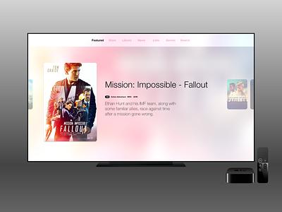 Movies Concept - Light Theme movies tv appletv app ux ui
