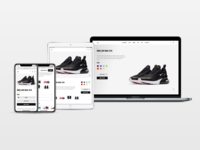 Nike Product Page - Responsive Web