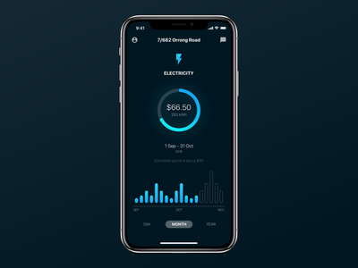 Energy App Concept iphone ios utility electricity energy app ux ui