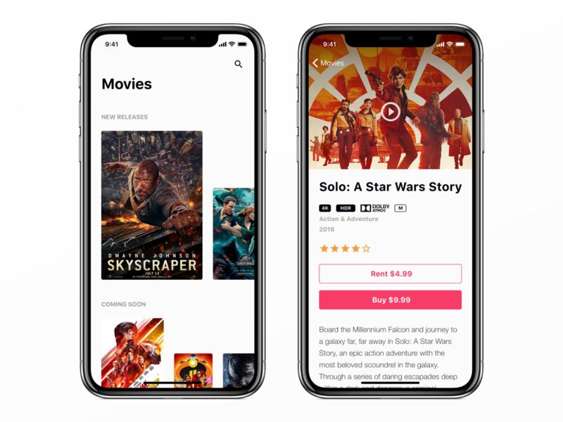 Movies App Concept movies ios iphone app ux ui