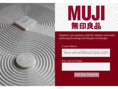 Daily UI 002 Muji sign up logo website web dailyui ui typography minimal flat design branding