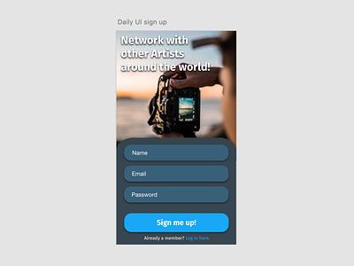 Daily UI - Sign up wireframes app design branding minimal design typography ui dailyui