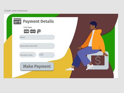 Daily UI 002 - Credit Card Checkout wireframes minimal ux logo illustration typography dailyui ui design