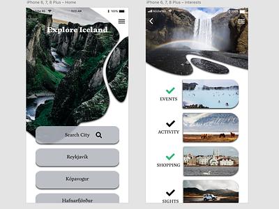 Daily UI - travel app ui adobexd illustration graphic design app design wireframes typography dailyui design minimal