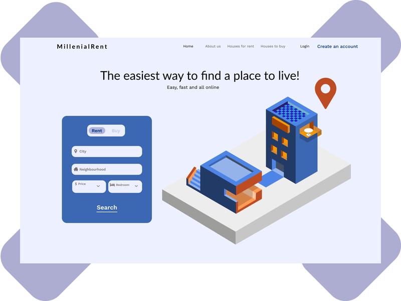 Day 3 – Landing page! icon design vector illustration dailyui ui ux figma dailyuichallenge